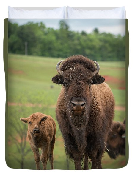 Duvet Cover featuring the photograph Bison 4 by Joye Ardyn Durham