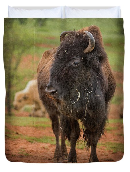Duvet Cover featuring the photograph Bison 5 by Joye Ardyn Durham