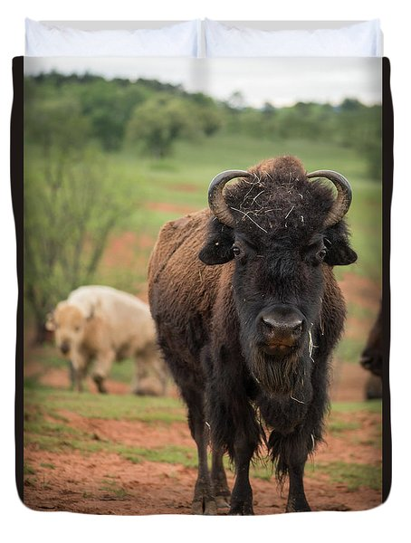 Duvet Cover featuring the photograph Bison 6 by Joye Ardyn Durham