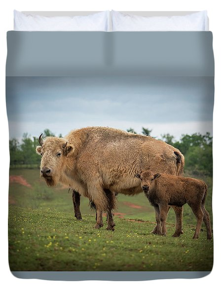 Duvet Cover featuring the photograph Bison 7 by Joye Ardyn Durham