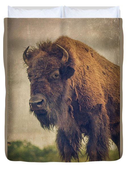 Duvet Cover featuring the photograph Bison 8 by Joye Ardyn Durham