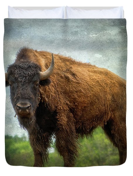 Duvet Cover featuring the photograph Bison 9 by Joye Ardyn Durham