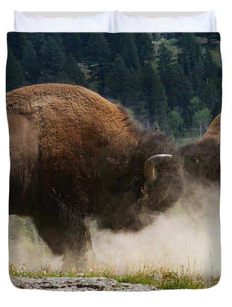 Bison Duel Duvet Cover