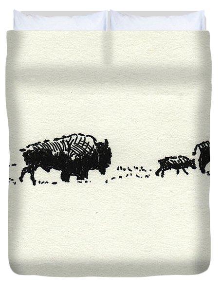 Bison Family Duvet Cover