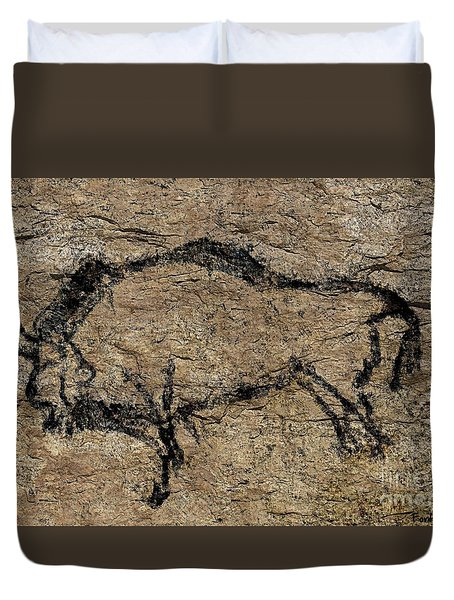Bison From Niaux Cave Duvet Cover