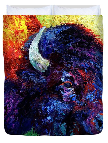 Bison Head Color Study IIi Duvet Cover
