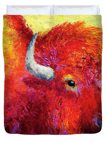 Bison Head Color Study Iv Duvet Cover