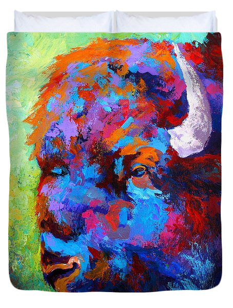 Bison Head II Duvet Cover