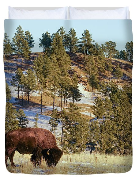 Duvet Cover featuring the photograph Bison In Custer State Park by Bill Gabbert