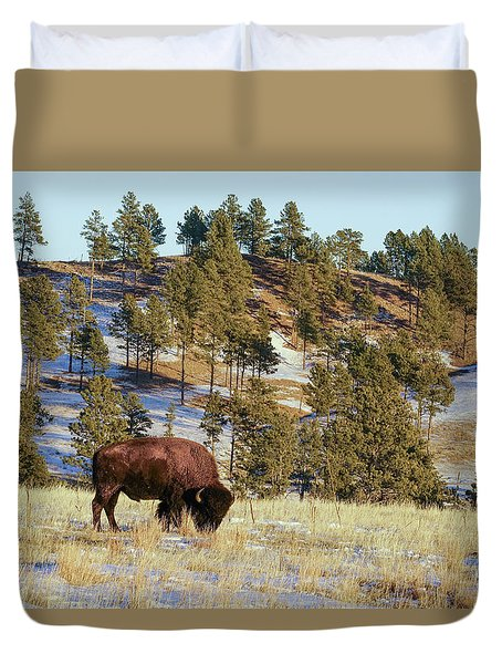 Bison In Custer State Park Duvet Cover