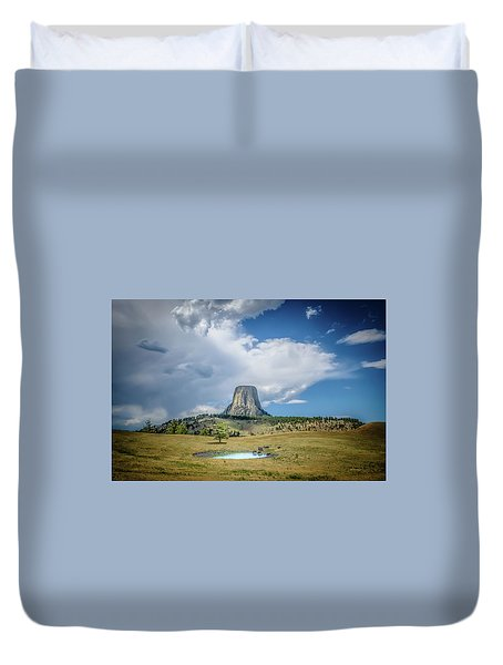 Bison Pond Duvet Cover