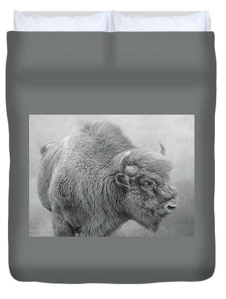 Bison Duvet Cover by Roy McPeak