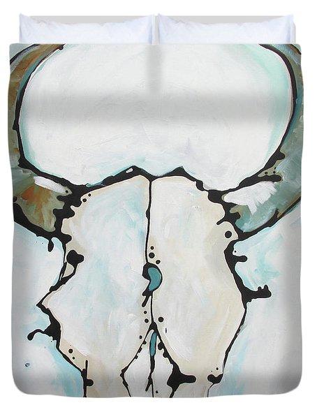 Bison Skull #2 Duvet Cover