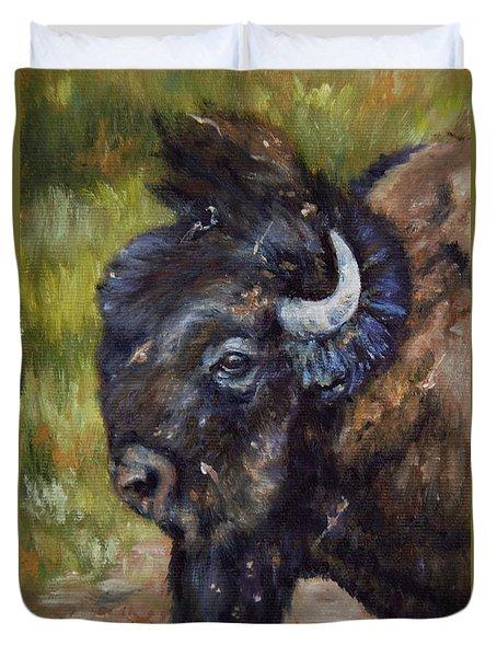 Bison Study 5 Duvet Cover
