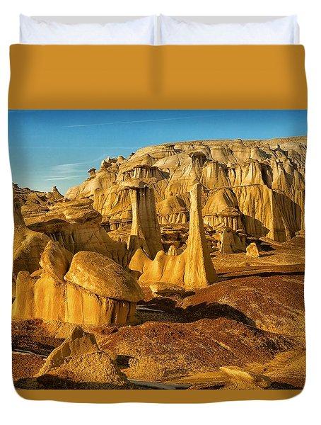 Bisti Badlands Fantasy Duvet Cover by Alan Vance Ley