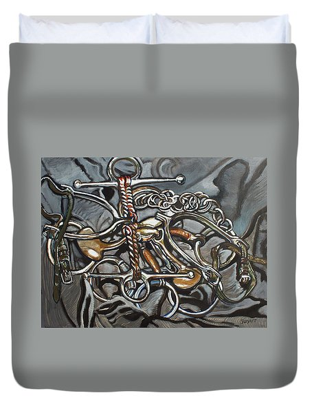 Bits And Pieces Duvet Cover by Stephanie Come-Ryker