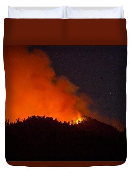 Bitterroot Forest Fire Duvet Cover