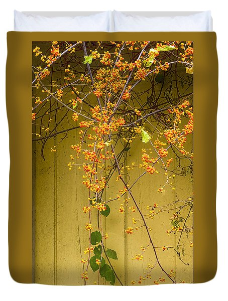 Bittersweet Vine Duvet Cover by Tom Singleton
