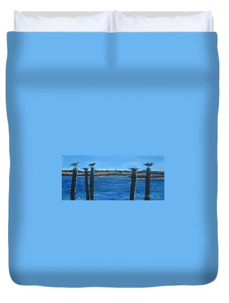 Bivalve Seagulls Duvet Cover