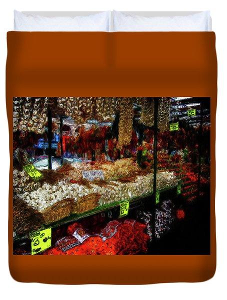 Biward Market Garlic Duvet Cover