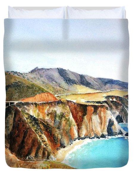 Bixby Bridge Big Sur Coast California Duvet Cover