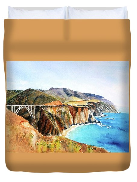 Bixby Bridge Big Sur Coast California Duvet Cover
