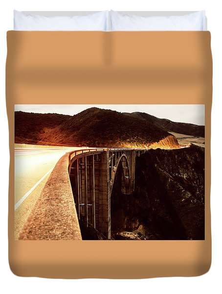 Bixby Creek Bridge, California Duvet Cover