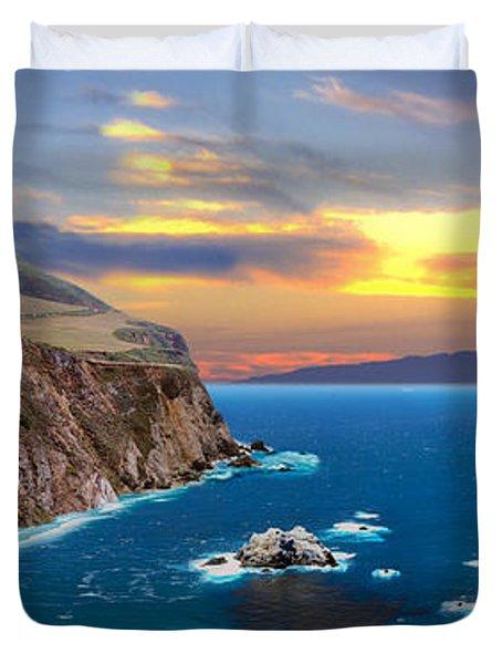 Duvet Cover featuring the photograph Bixby Creek Bridge by David Zanzinger