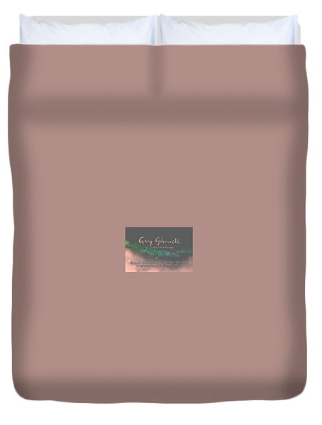 Biz Card Duvet Cover