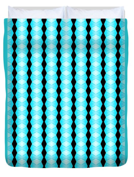 Black And Blue Diamonds Duvet Cover