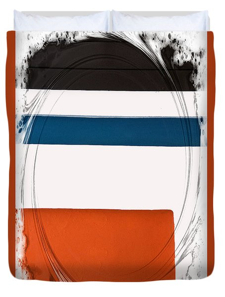 Black And Orange Spots Duvet Cover