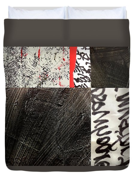Black And Red 3 Duvet Cover