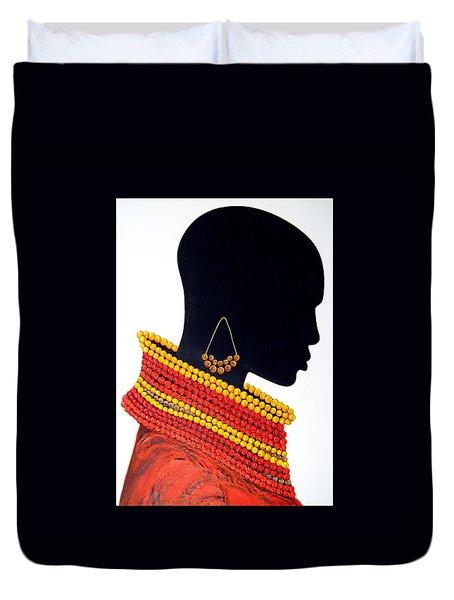 Black And Red - Original Artwork Duvet Cover