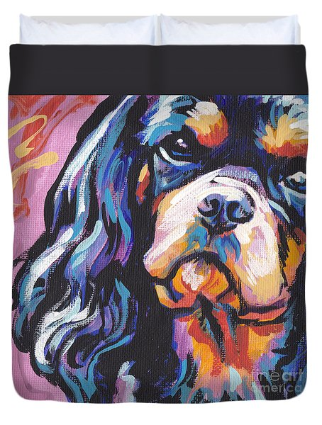 Black And Tan Cav Duvet Cover by Lea S