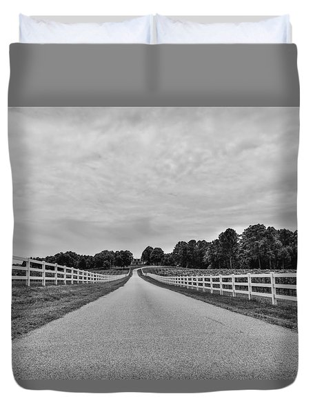 Black And White 134 Duvet Cover