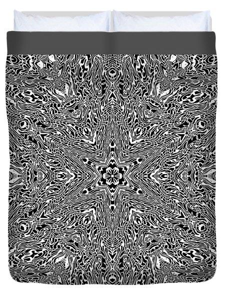 Duvet Cover featuring the digital art Black And  White 24 by Robert Thalmeier