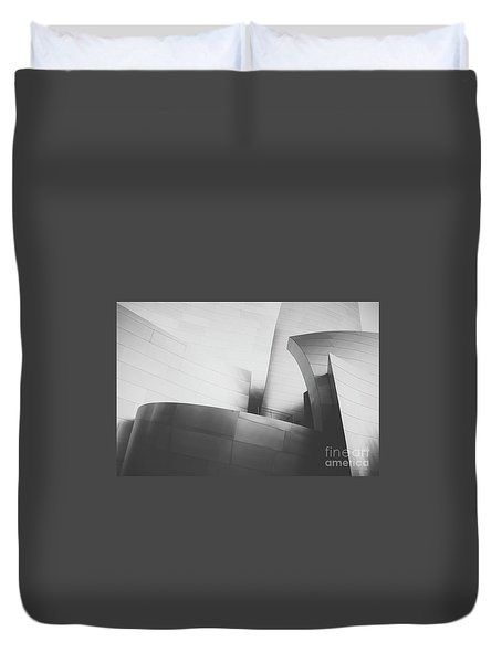 Duvet Cover featuring the photograph Black And White Arcitechture by MGL Meiklejohn Graphics Licensing