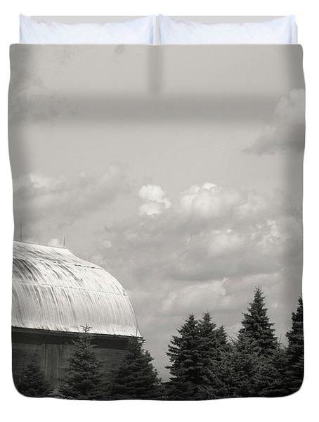 Black And White Barn Duvet Cover