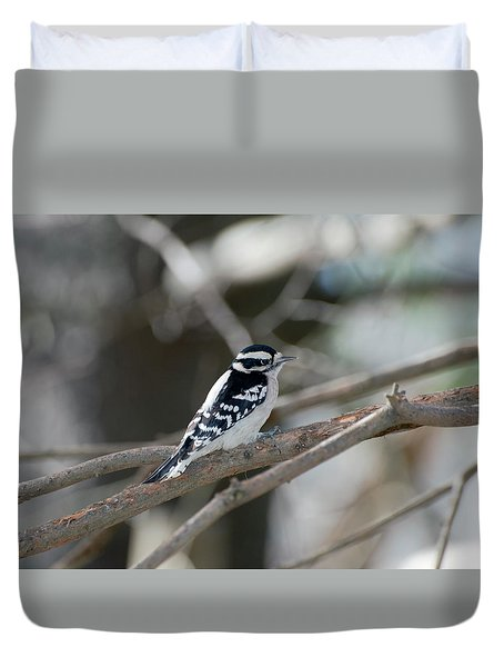 Black And White Bird Duvet Cover