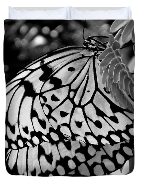 Black And White Butterfly Duvet Cover