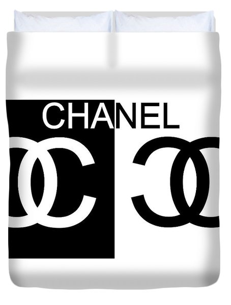 Black And White Chanel 2 Duvet Cover