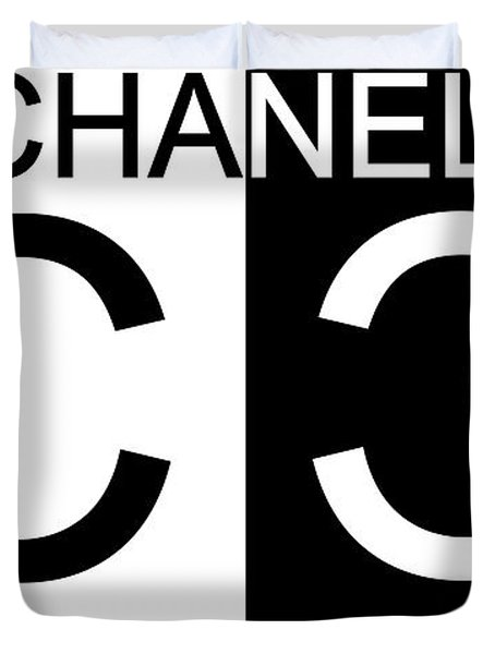 Black And White Chanel Duvet Cover