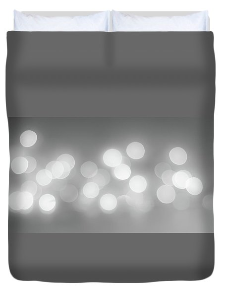 Black And White Circle Abstract  Duvet Cover by Terry DeLuco