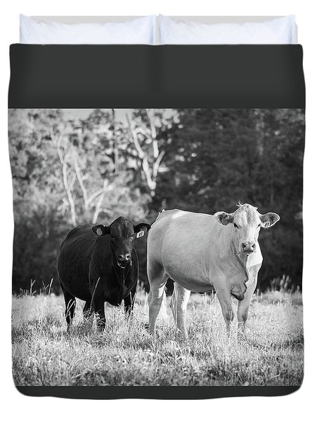 Black And White Cows Duvet Cover