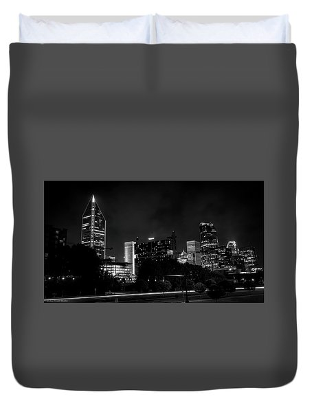 Black And White Downtown Duvet Cover