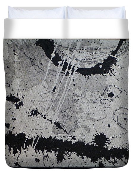Black And White Four Duvet Cover by Tracy Bonin