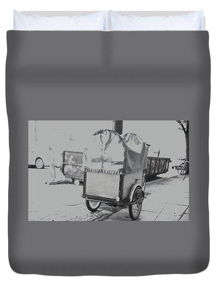 Black And White German Stroller Duvet Cover