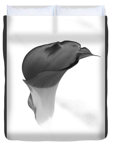 Duvet Cover featuring the photograph Black And White Lily 2 by Steven Clipperton