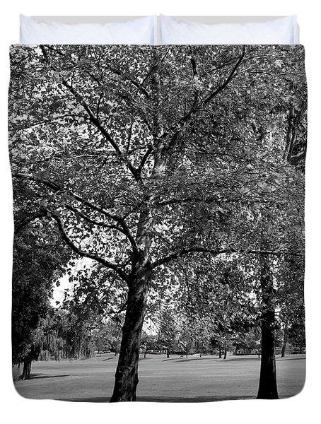 Black And White Nature Duvet Cover