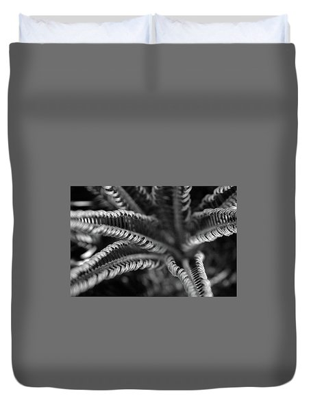 Black And White Palm Abstract 3624 Bw_2 Duvet Cover